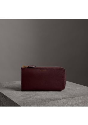 Burberry Two-tone Leather Ziparound Wallet and Coin Case, Red