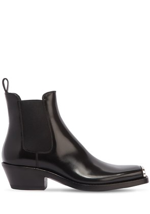 WESTERN CHRIS LEATHER ANKLE BOOTS