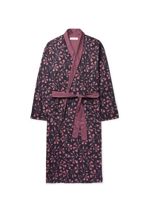 Printed Cotton-sateen Robe