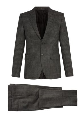 Single-breasted houndstooth wool suit