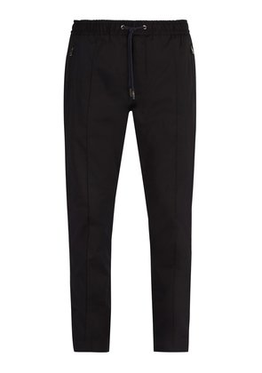 Cotton-blend track-style trousers