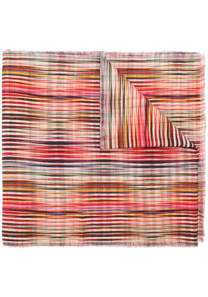 Paul Smith abstract print scarf - Multicolour