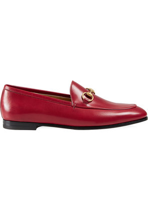 Gucci Gucci Jordaan leather loafer - Red