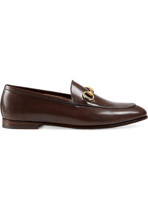 Gucci Gucci Jordaan leather loafers - Brown