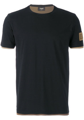 Fendi classic fitted T-shirt - Blue
