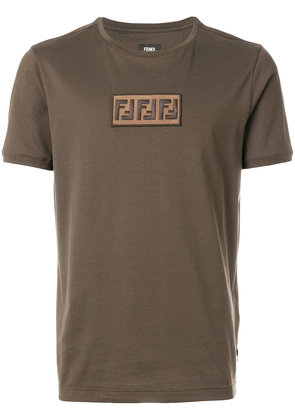 Fendi logo patch T-shirt - Brown