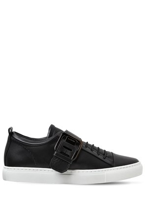 20MM SQUARE BUCKLE LEATHER SNEAKERS