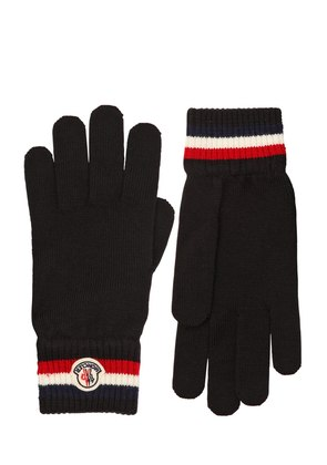 STRIPED WOOL KNIT GLOVES