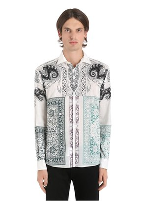 BANDANA PRINT FLUID COTTON MUSLIN SHIRT