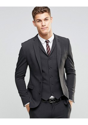 ASOS Super Skinny Fit Suit Jacket In Charcoal - Charcoal