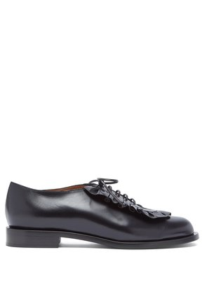 Adam ruffle-trimmed leather shoes