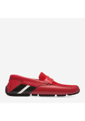 Bally Piotre Red, Men's calf leather and suede driver in corvette