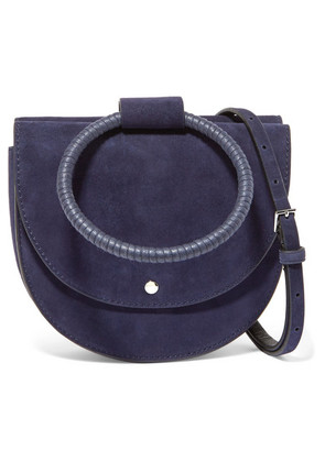 Theory - Whitney Suede Shoulder Bag - Navy