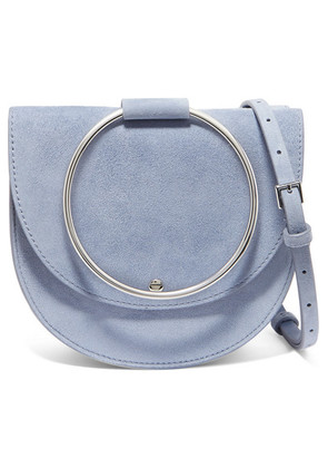 Theory - Whitney Suede Shoulder Bag - Blue