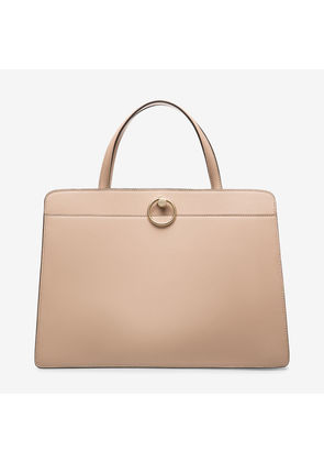 Bally Lottie Tote Neutral, Women's calf leather tope handle bag in skin