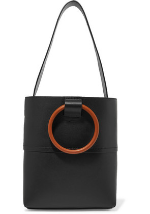 Theory - Hoop Mini Leather Tote - Black