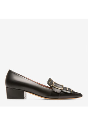 Bally Harumi Black, Women's calf leather pump with 35mm heel in black