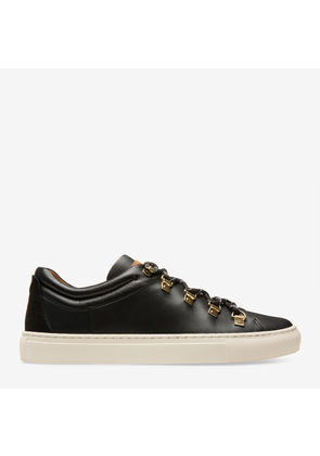 Bally Heidy Black, Women's calf leather low-top trainer in black