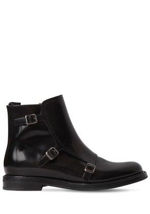 20MM AMELIA BUCKLED LEATHER BOOTS