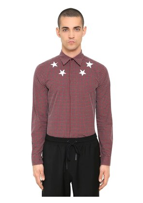 STAR PRINT COTTON CHENILLE SHIRT