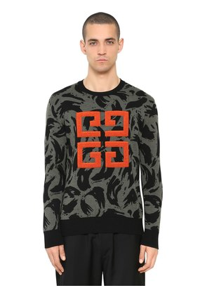 4G LOGO PATCH JACQUARD WOOL SWEATER