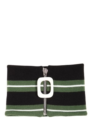 STRIPED MERINO WOOL NECKBAND
