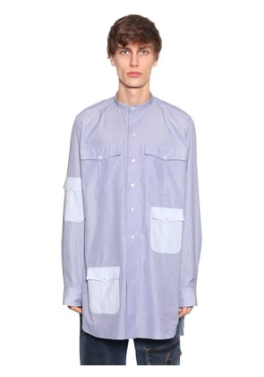 STRIPES COTTON LONG SHIRT W/ POCKETS