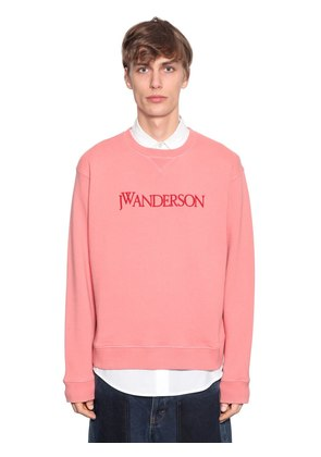 LOGO EMBROIDERED COTTON SWEATSHIRT