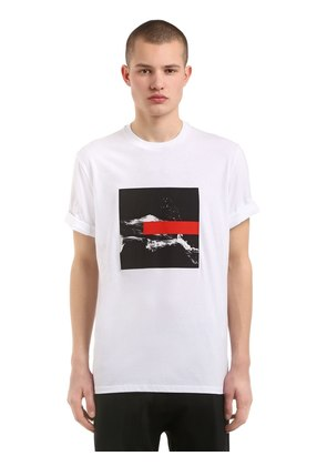 LOOSE FIT LIQUID INK JERSEY T-SHIRT