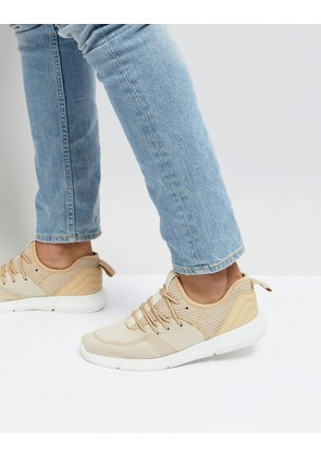 New Look Knitted Trainers In Beige - Stone