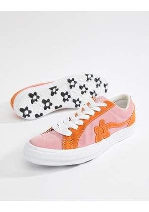 Converse x Golf Le Fleur Two Tone One Star Ox Plimsolls In Pink 162125C - Pink