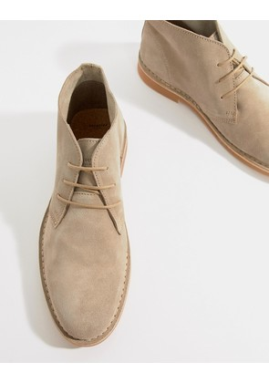 Selected Homme Suede Desert Boots - Silver mink