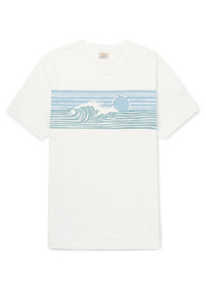 Printed Slub Cotton-jersey T-shirt