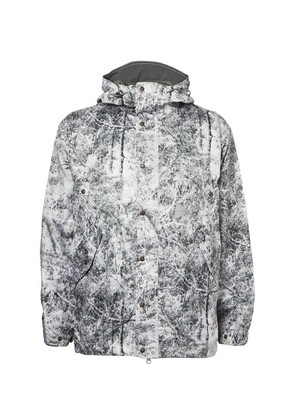 White Forest Printed Shell Jacket