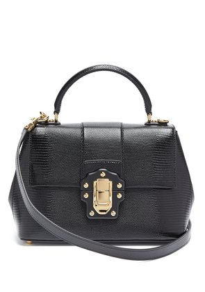 Lucia lizard-effect leather bag