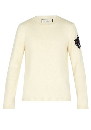 Tiger-intarsia wool sweater