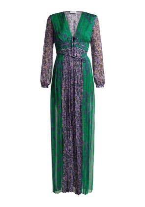 Lily floral-print silk-georgette gown