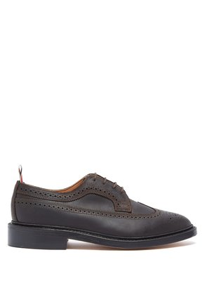 Longwing brushed-leather brogues