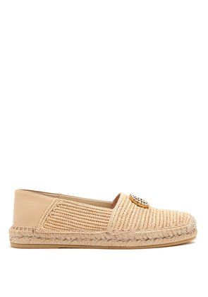 Pilar raffia collapsible-back espadrilles