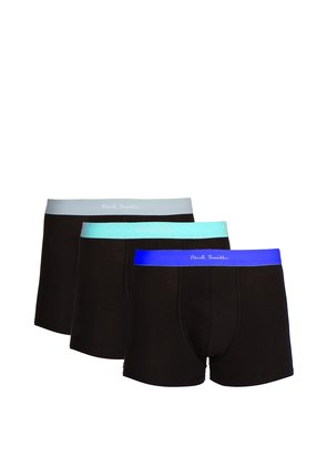 Set of three stretch-cotton boxer trunks
