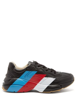 Rhyton raised-sole striped trainers