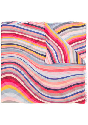Paul Smith striped scarf - Pink & Purple