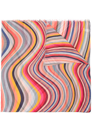 Paul Smith psychadelic print scarf - Multicolour