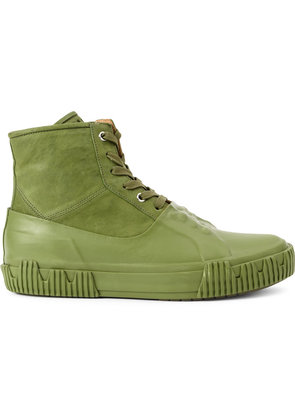 Both contrast lace-up boots - Green