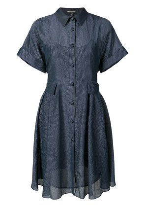 Emporio Armani textured shirt dress - Blue