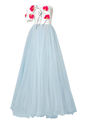Carolina Herrera floral embroidered ballgown - White