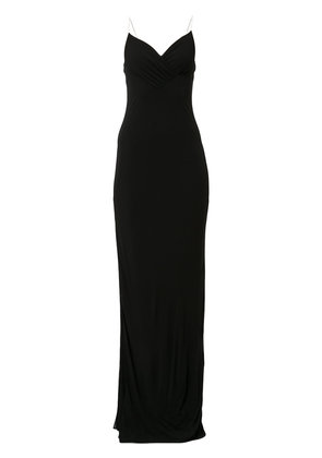Balmain rhinestone spaghetti strap dress - Black