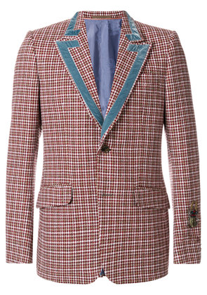 Gucci Heritage houndstooth wool jacket - Red