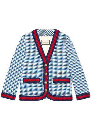 Gucci Wool jacket with Web - Blue