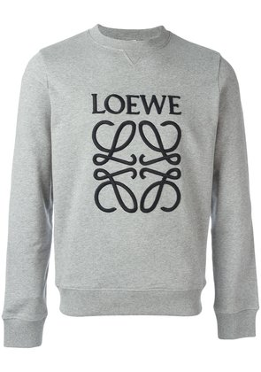 Loewe logo embroidered sweatshirt - Grey